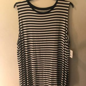 NWT Navy and white striped tank